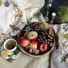 Úžitkový textil - Vankúš - veniec bobuľovín - 11322694_