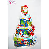 Detské doplnky - Veľké vianočné plienkové torty - 11322246_