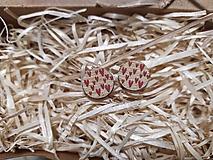 Náušnice - Kruh srdiečkovo červené - 11322922_