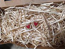 Náušnice - Srdce v kruhu červené - 11322980_