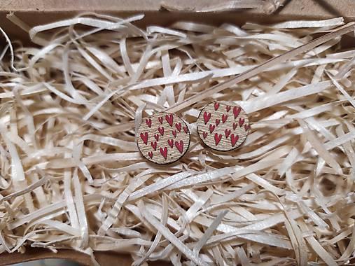 Kruh srdiečkovo červené