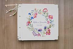 Fotoalbum klasický, papierový obal so štruktúrou plátna smotanovej farby s potlačou