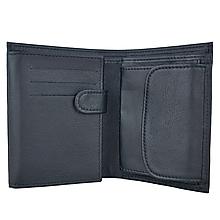 Tašky - Pánska kožená peňaženka z pravej hrubkovanej kože v čiernej farbe - 11323844_