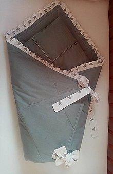 Textil - Štýlová sivá zavinovačka - 11322389_