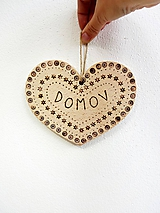 """Dekorácie - Srdce """"Domov"""" - 11322285_"""