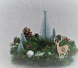 Dekorácie - Dekorácia - veniec 46 vianočný na stôl - 11321807_