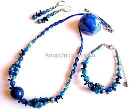 Sady šperkov - Bombona azul - 11324396_