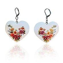 Náušnice - Náušnice Srdce Lúčne kytice - 11322020_