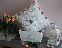 Úžitkový textil - Růže na saténu - 11323608_
