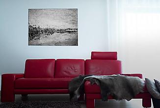 Obrazy - Dunaj v zime - 11322187_