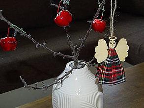 Dekorácie - Vianočný anjelik - 11321233_
