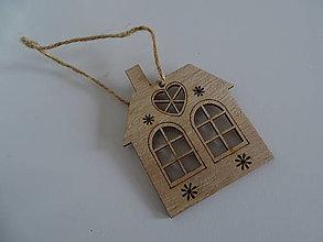 Dekorácie - Vianočný domček - 11321355_