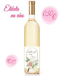 Papiernictvo - Etiketa na víno E17 - 11324165_