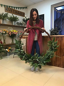 Dekorácie - Veľký vianočný zimný veniec - 11324286_