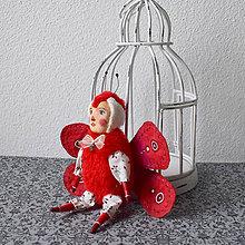 Hračky - Pán motýlik červený - 11324520_