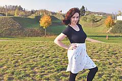 Sukne - Krátka sukňa z tenclu - 11324765_