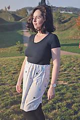 Sukne - Krátka sukňa z tenclu - 11324766_