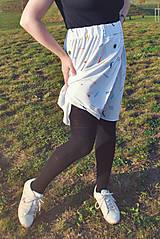 Sukne - Krátka sukňa z tenclu - 11324769_