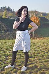 Sukne - Krátka sukňa z tenclu - 11324770_