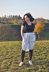 Sukne - Sukňa s vreckami z tenclu - 11324898_