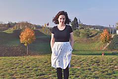 Sukne - Sukňa s vreckami z tenclu - 11324899_