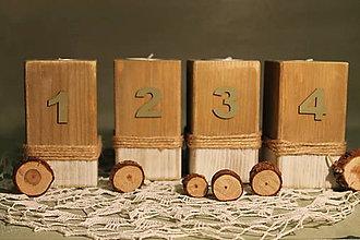 Dekorácie - Adventné svietniky, sada 4 kusov. - 11323957_