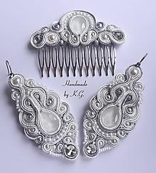 Sady šperkov - Svadobná šujtášová sada - 11322491_