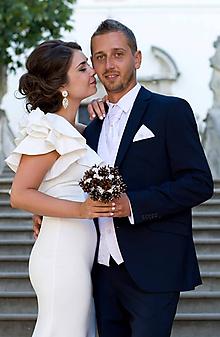 Kytice pre nevestu - Netradičná zimná svadobná kytica - 11324609_