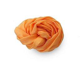 """Šály - """"orange mild"""" hodvábny šál skladom - 11323128_"""