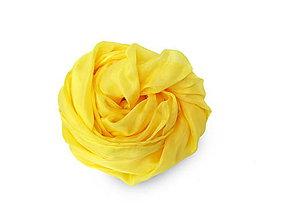 """Šály - """"sun yellow"""" hodvábny šál skladom - 11323296_"""