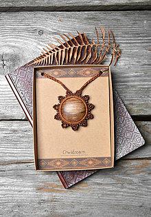 Náhrdelníky - Drevený náhrdelník slnko •Škoricové slniečko• - 11321585_