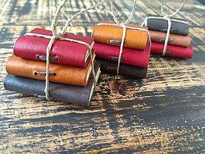 Materiál ručne robený - Miniknižky - 11321893_