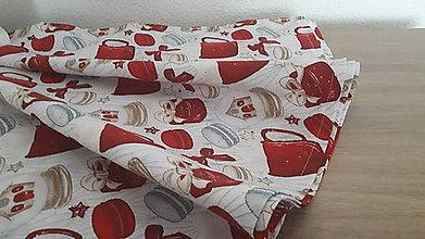Úžitkový textil - Okrúhly obrus  (Makrónky) - 11325964_