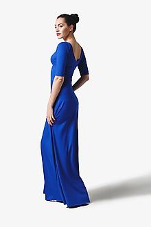 Šaty - Šaty dlhé kráľovská modrá - 11327439_