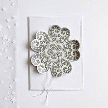 Papiernictvo - Vianočná pohľadnica, vločka - 11326784_