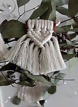 Dekorácie - škoricové makramé ozdoby - 11326257_