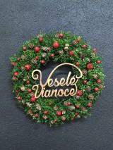"""Dekorácie - Vianočný veniec """" Veselé Vianoce """"  - 11327462_"""