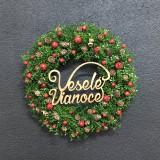 """Dekorácie - Vianočný veniec """" Veselé Vianoce """"  - 11327464_"""