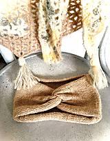 Šatky - Veľká šatka a turban čelenka, zvýhodnený set. - 11327213_