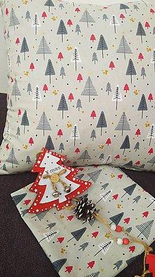 Úžitkový textil - Obliečka na vankúš vianočná - 11328916_