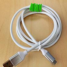 Drobnosti - Kábel na mobil s menom (USB-C 1.5M, BIELA) - 11326923_