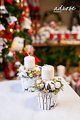 Dekorácie - Vianoce - svietnik - prírodný - 11325571_