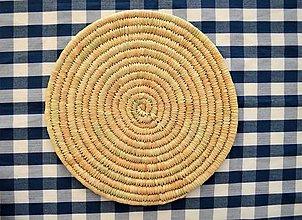 Pomôcky - Ručne pletená podložka z palmových listov - 11326742_