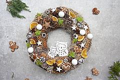 Dekorácie - Vianočný veniec na dvere - 11325562_