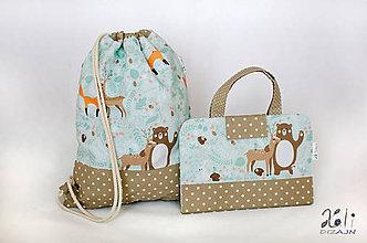 Detské tašky - Set pre škôlkara -pastelkovník a batoh Zvieratká v lese - 11328760_