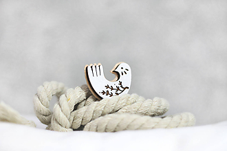 Odznaky/Brošne - Vtáčik halúzka - 11325892_
