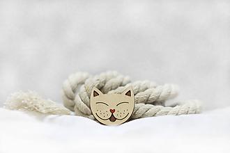 Odznaky/Brošne - Brošňa Mačací jazýček - 11326752_