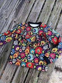 Detské oblečenie - Folk mikina s volánmi č 116 - 11326613_