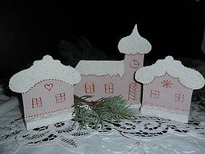Dekorácie - Vianočná dedinka. - 11325640_