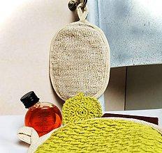 Úžitkový textil - Obojstranná umývacia žinka svieža zelená. - 11325291_